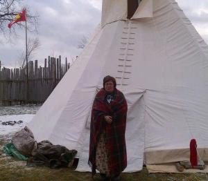 Chief Theresa Spence (detail). Photo by Regina Notarsandsnobelomonte Southwind