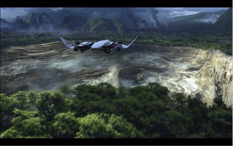 """The mine is in sight."" Still frame (at runtime 00:03:59) from Avatar (2009)."