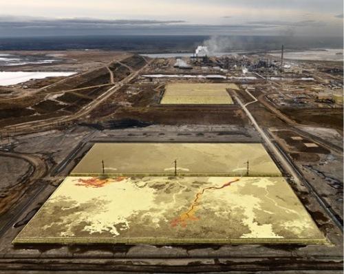 Edward Burtynsky, Alberta Oil Sands #6. (from OIL. London: Steidl, 2011.)