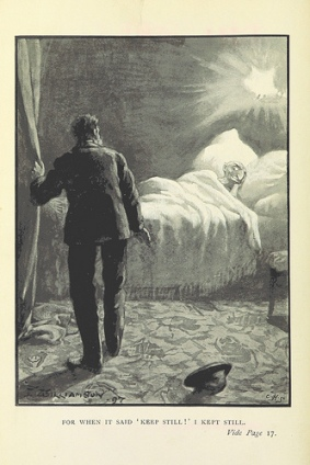 Illustration from 1897 edition of Marsh's The Beetle. (Public domain image via British Library.)